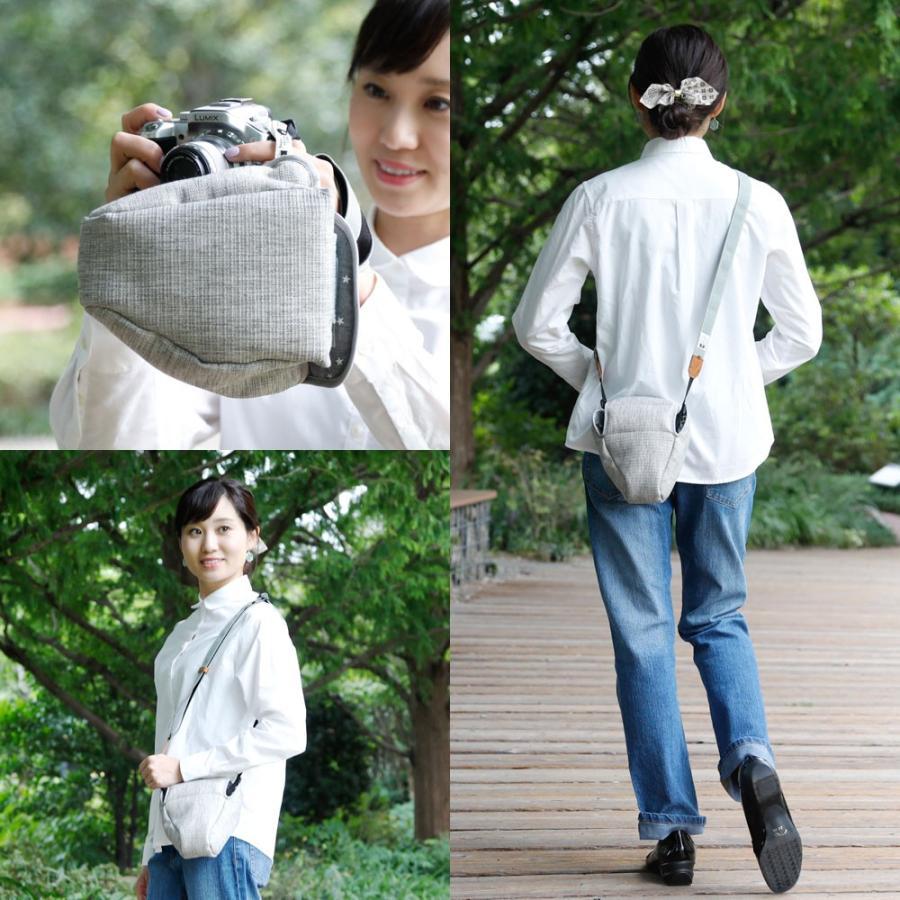 カメラケース camera case 一眼レフ用 「カメラのお洋服 スリム」 プロテジェ グレーミックス(撥水加工)|mi-na|04