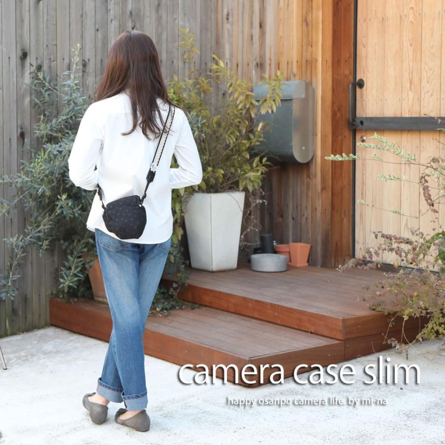 カメラケース camera case 一眼レフ用 「カメラのお洋服 スリム」 エレガントブラックレディードット mi-na 02