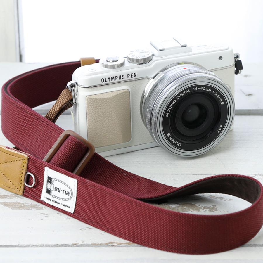 カメラストラップ camera strap 一眼レフ ミラーレス一眼用 CORDURAR(コーデュラR)ボルド― フリータイプ mi-na