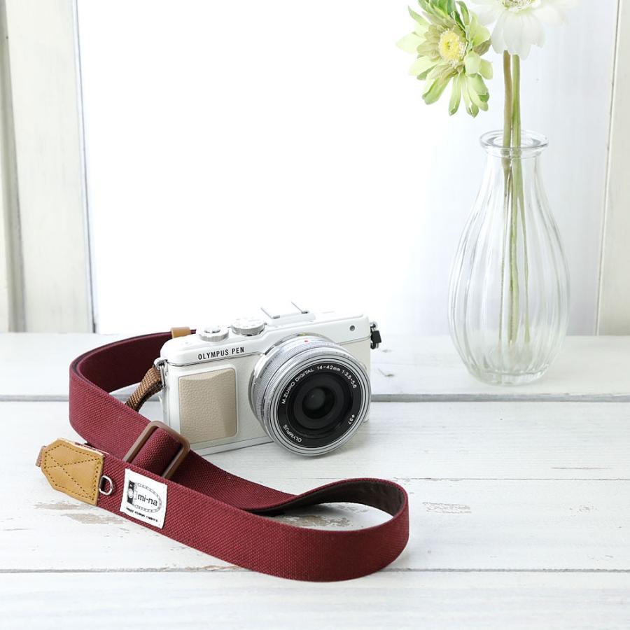 カメラストラップ camera strap 一眼レフ ミラーレス一眼用 CORDURAR(コーデュラR)ボルド― フリータイプ mi-na 02