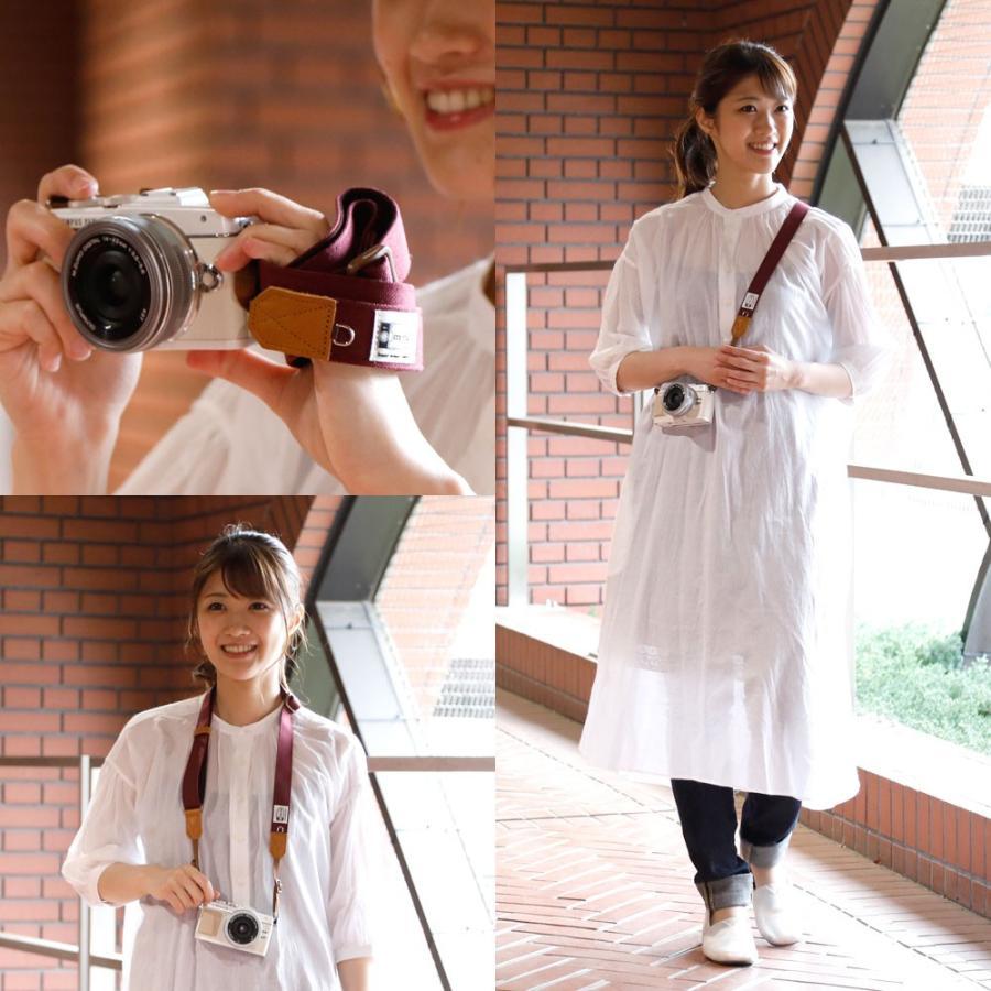 カメラストラップ camera strap 一眼レフ ミラーレス一眼用 CORDURAR(コーデュラR)ボルド― フリータイプ mi-na 05