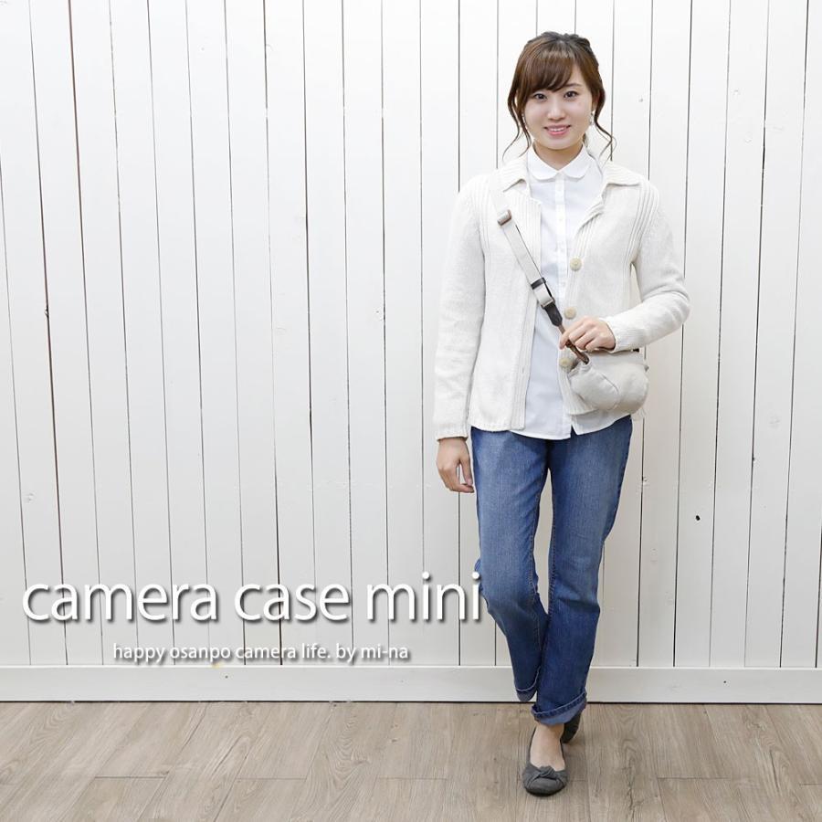 カメラケース camera case ミラーレス一眼カメラ用 カメラのお洋服 ミニ  /H.L.ベージュ mi-na 02