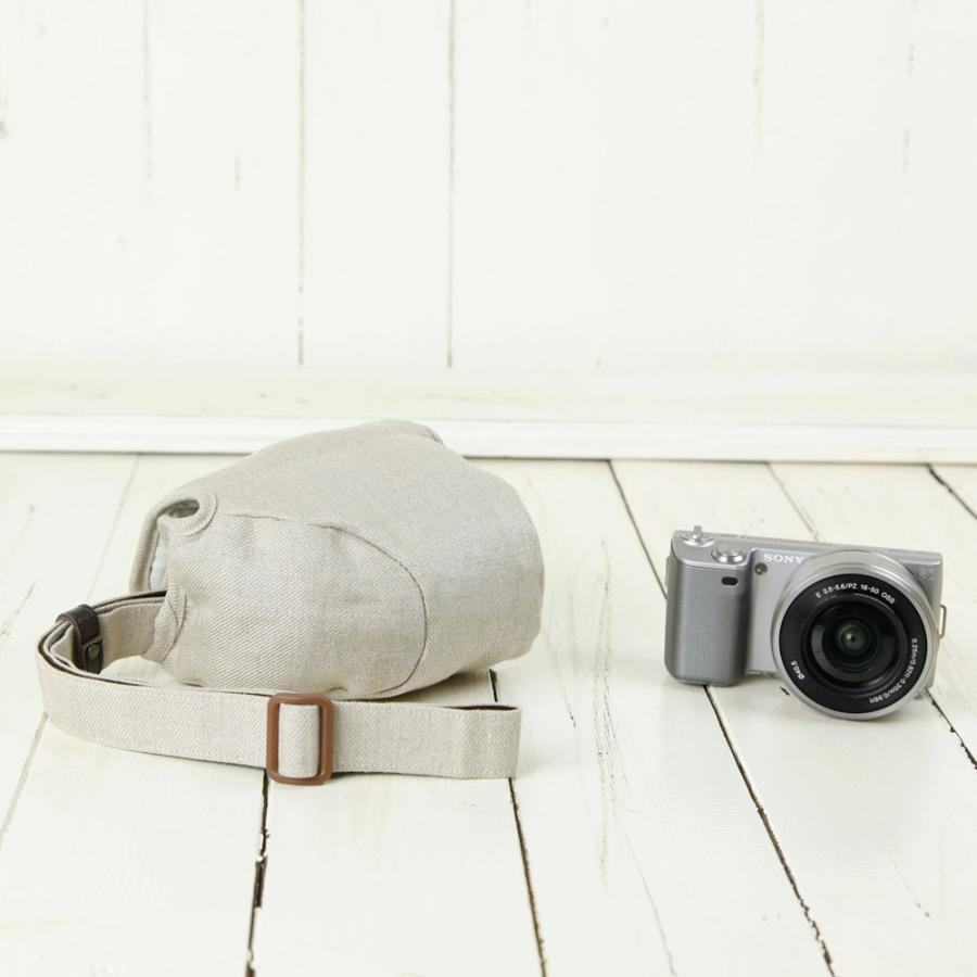 カメラケース camera case ミラーレス一眼カメラ用 カメラのお洋服 ミニ  /H.L.ベージュ mi-na 03