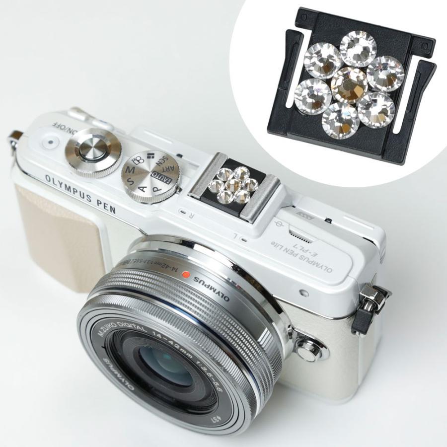 ホットシューカバー「カメラのボウシ」/スワロフスキーフラワークリスタル|mi-na|03
