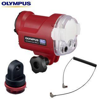 [オリンパス OLYMPUS]UFL-3 + PTSA-02(ショートアーム)+ PTCB-E02 水中ストロボセット