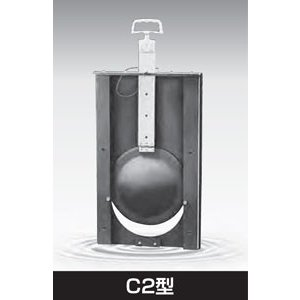 大口径丸型 塩ビ製 ゲート 手動式水門扉 C2型 C2-500 1基