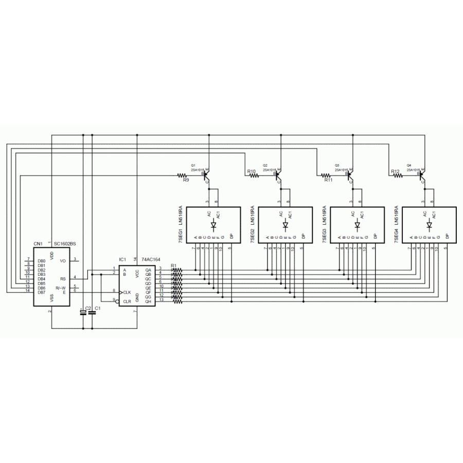 BLUE-7SEG-1 4桁7セグメントLED表示装置|microfan|02