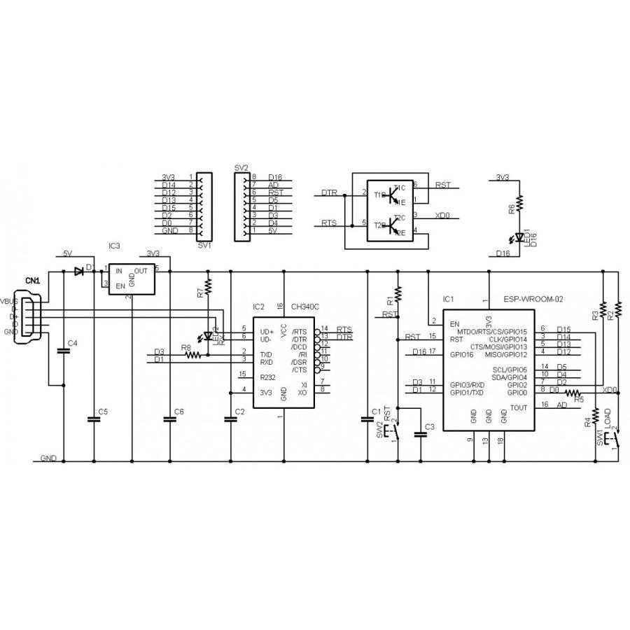 ESP8266-CORE-R1 (ESP-WROOM-02 開発ボード)|microfan|11