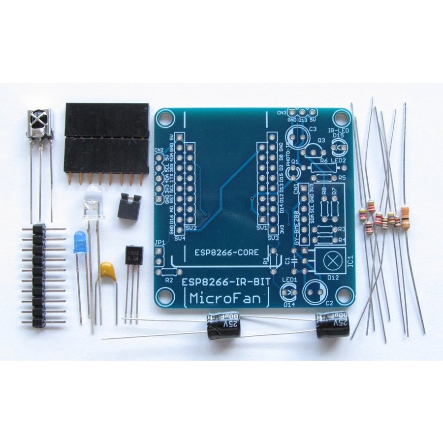 ESP8266-IR-BIT 赤外線リモコン拡張ボードキット|microfan|02