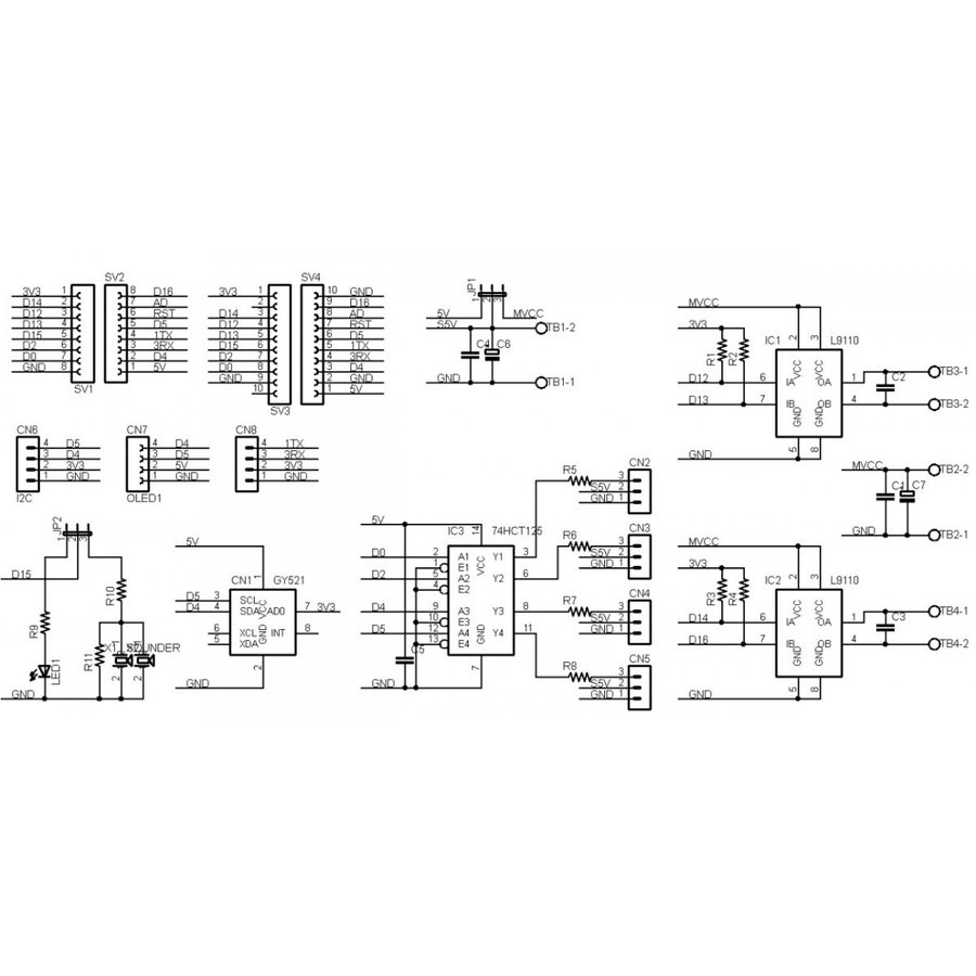 ESP8266-MOTOR-BASE DCモーター拡張ボードキット|microfan|06