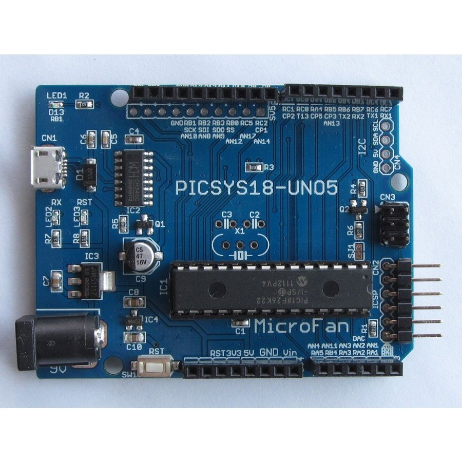PICSYS18-UNO5 (PIC18F26K22 開発ボード) microfan