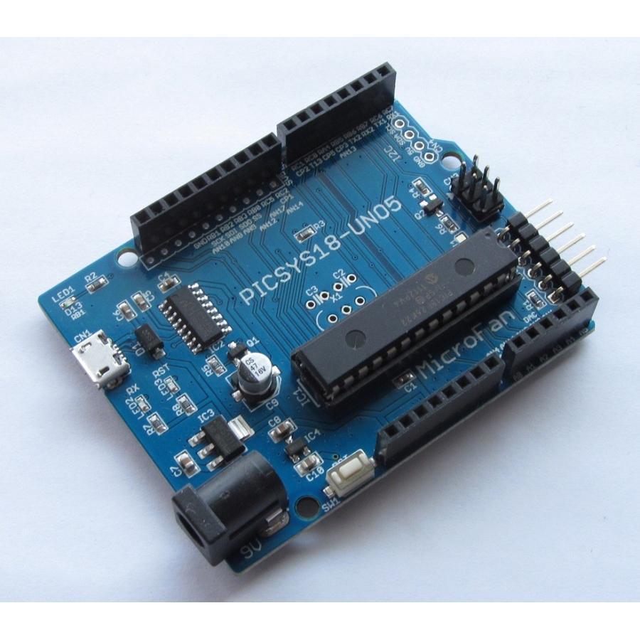 PICSYS18-UNO5 (PIC18F26K22 開発ボード) microfan 02