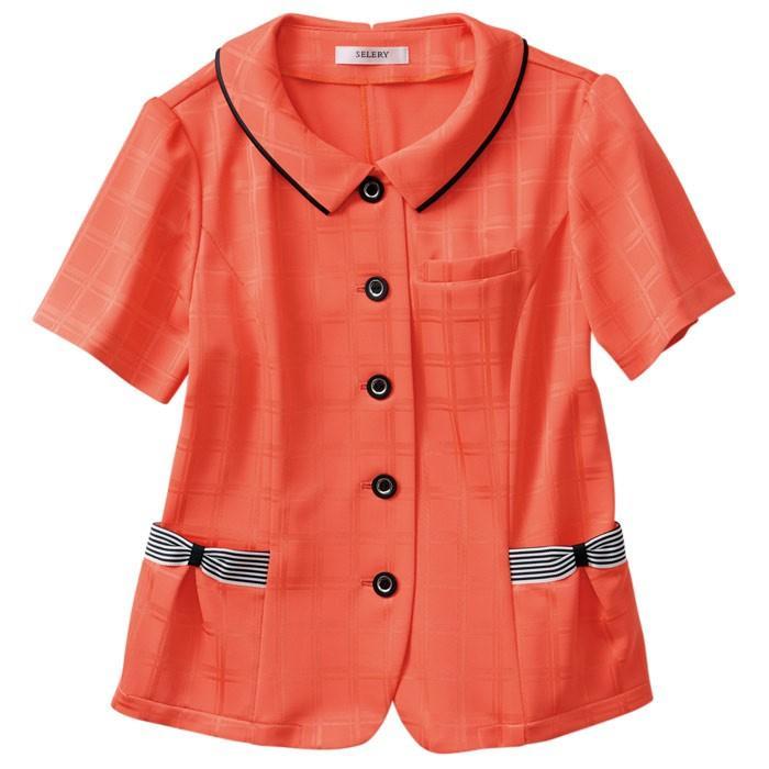 セロリー SELERY オーバーブラウス 50554 オレンジ (5〜19号) 吸水 速乾 オフィスウェア ミドリ安全.com PayPayモール店 - 通販 - PayPayモール