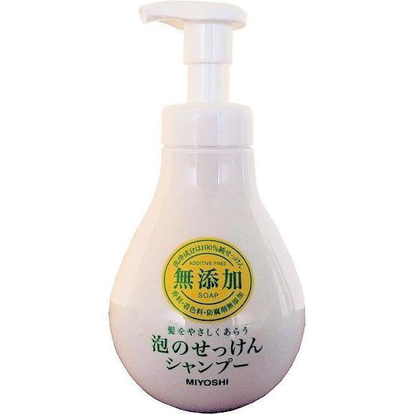無添加 泡のせっけんシャンプー 500ml   ミヨシ石鹸 midoriya-yshop