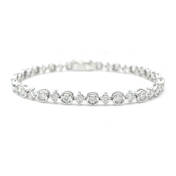 熱販売 【緑屋質屋】DIAMOND LINE(ダイヤモンドライン) ダイヤモンドブレスレット 2.60ct K18WG【】, コウリョウチョウ c30e35f9