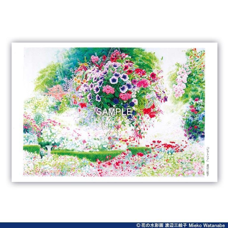 渡辺三絵子 花の水彩画 ポストカード12枚セット|mieko-watanabe|03