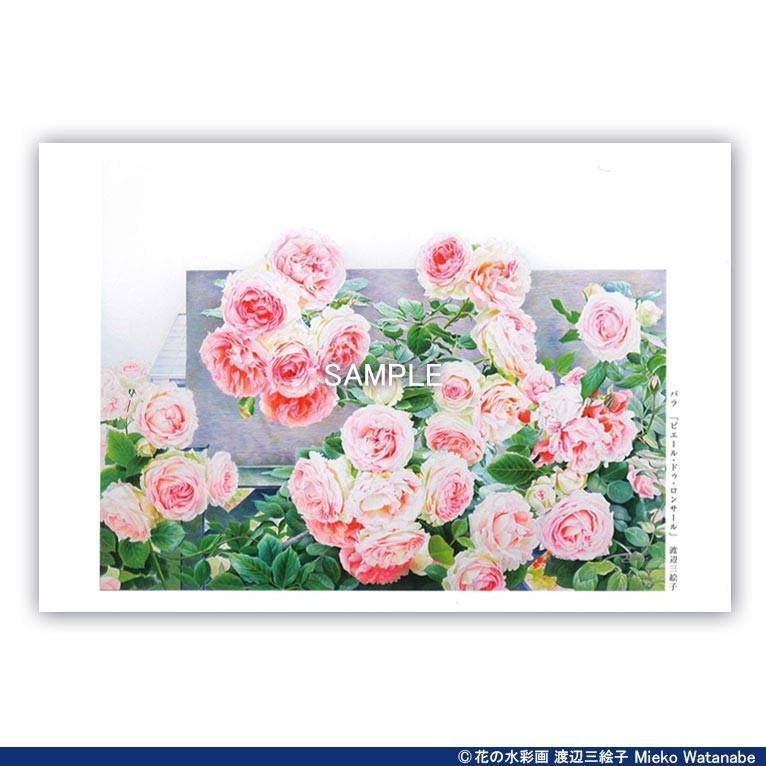 渡辺三絵子 花の水彩画 ポストカード12枚セット|mieko-watanabe|04