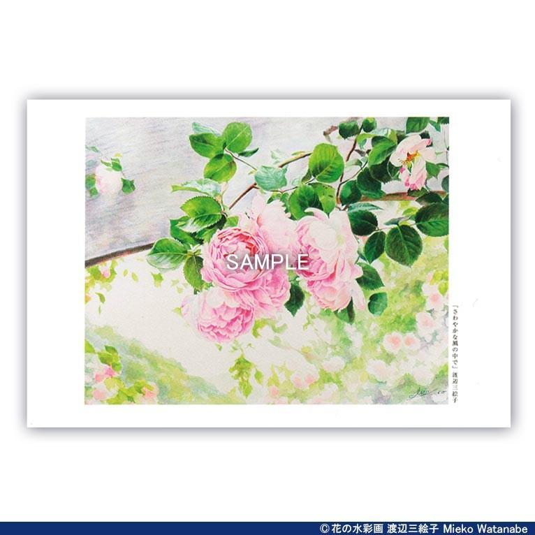 渡辺三絵子 花の水彩画 ポストカード12枚セット|mieko-watanabe|05