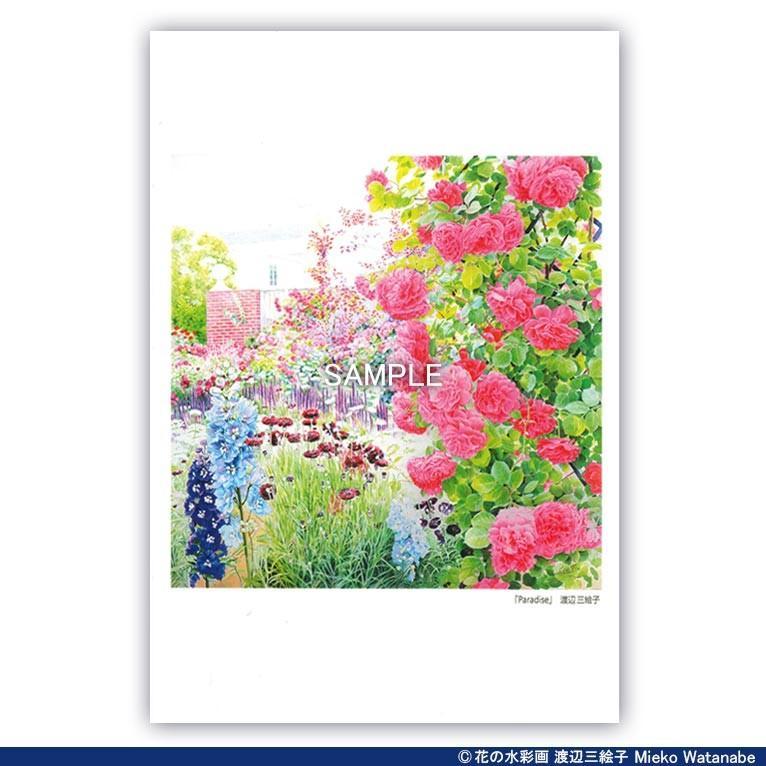 渡辺三絵子 花の水彩画 ポストカード12枚セット|mieko-watanabe|09