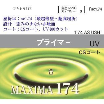 1.74非球面 マキシマ174 2枚1組 即日出荷 値下げ 最超薄型