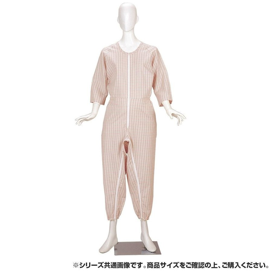 素晴らしい品質 つなぎねまきビエラ前股フック ピンク Mサイズ 4300-介護用品