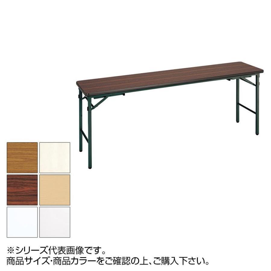 送料無料 トーカイスクリーン 折り畳み会議テーブル クランク式 ソフトエッジ巻 棚なし YST-155N 代引き・同梱不可