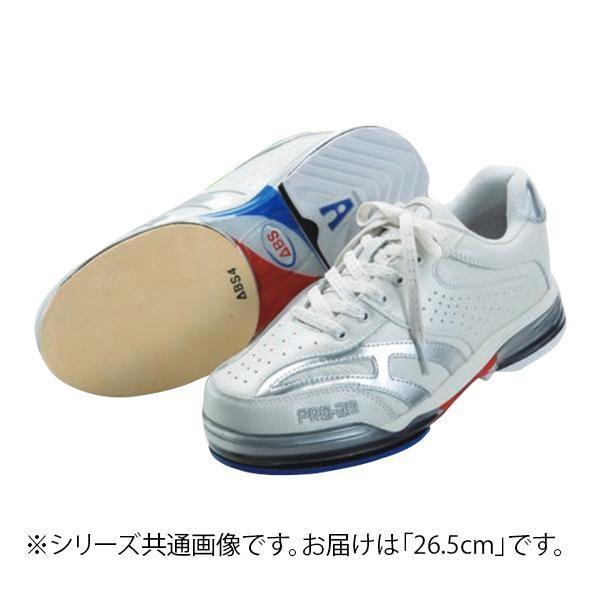 都内で 送料無料 ABS ボウリングシューズ ABS CLASSIC 左右兼用 ホワイト・シルバー 26.5cm, アズマネット 6a4cb791