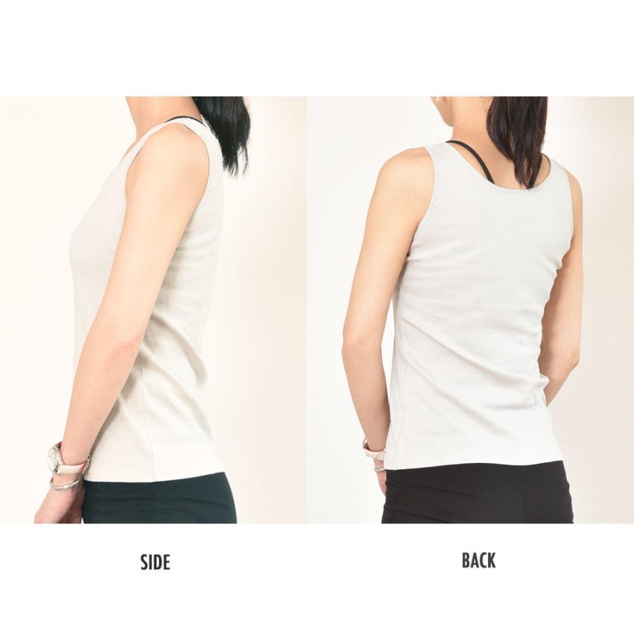 タンクトップ キャミソール オーガニックコットン 100 敏感肌 肌に優しい ストレスフリー カットソー ラウンドネック ノースリーブ 有機栽培 敏感|mignonlindo|11