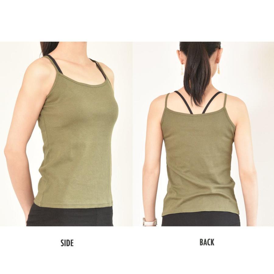 タンクトップ キャミソール オーガニックコットン 100 敏感肌 肌に優しい ストレスフリー カットソー ラウンドネック ノースリーブ 有機栽培 敏感|mignonlindo|12