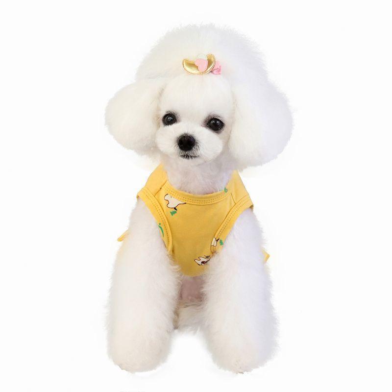 ドッグウェア いぬ服 ワンピース レース ペット用 犬 猫 フレア Aライン フリル 重ね着風 袖なし ノースリーブ フェイクレイヤード プルオーバー mignonlindo 03