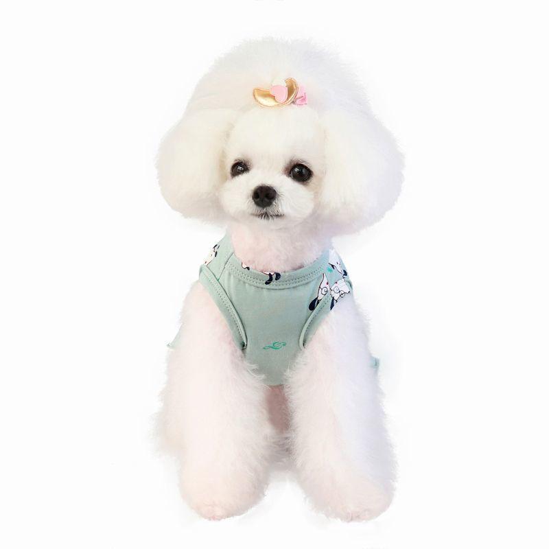 ドッグウェア いぬ服 ワンピース レース ペット用 犬 猫 フレア Aライン フリル 重ね着風 袖なし ノースリーブ フェイクレイヤード プルオーバー mignonlindo 06