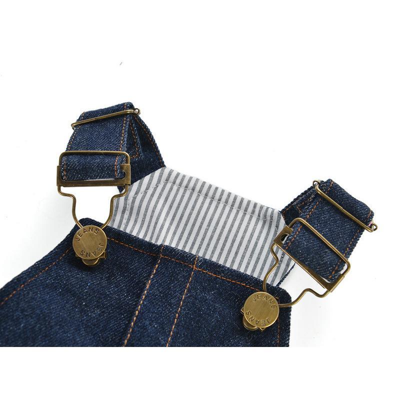 ドッグウェア ワンピース 犬服 猫服 ペット用品 小型犬 デニム 袖なし ジャンパースカート ティアードスカート フリル 吊りスカート おしゃれ かわ|mignonlindo|11