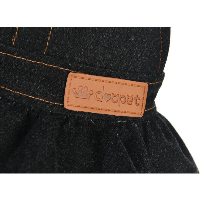 ドッグウェア ワンピース 犬服 猫服 ペット用品 小型犬 デニム 袖なし ジャンパースカート ティアードスカート フリル 吊りスカート おしゃれ かわ|mignonlindo|16