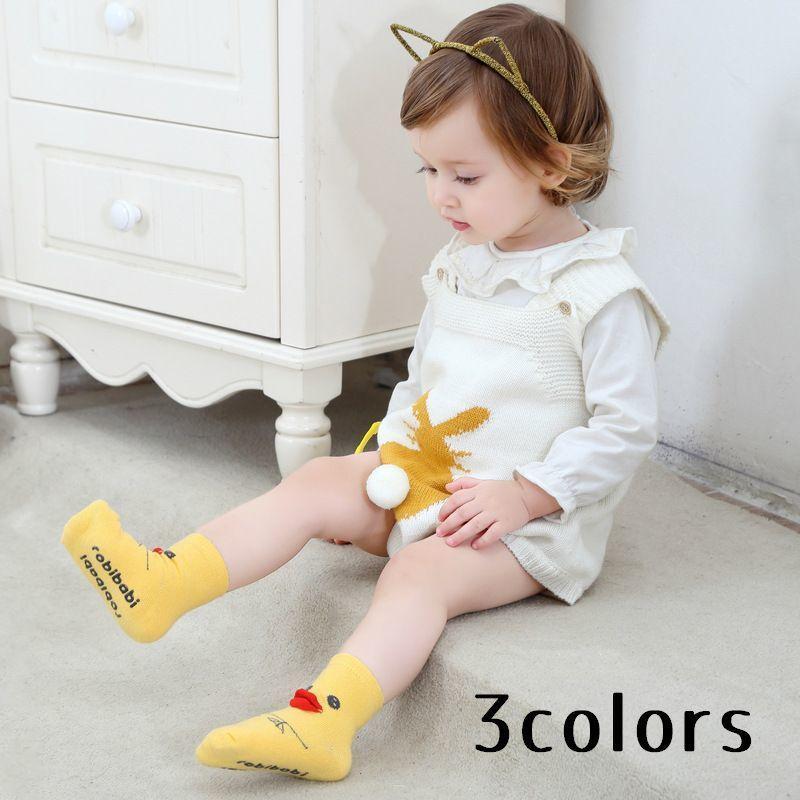 靴下 ソックス ベビー 赤ちゃん 子供 キッズ 男の子 女の子 アヒル 黄色 ひよこ ディスカウント 白 海外限定 グレー 動物 ペンギン アニマル