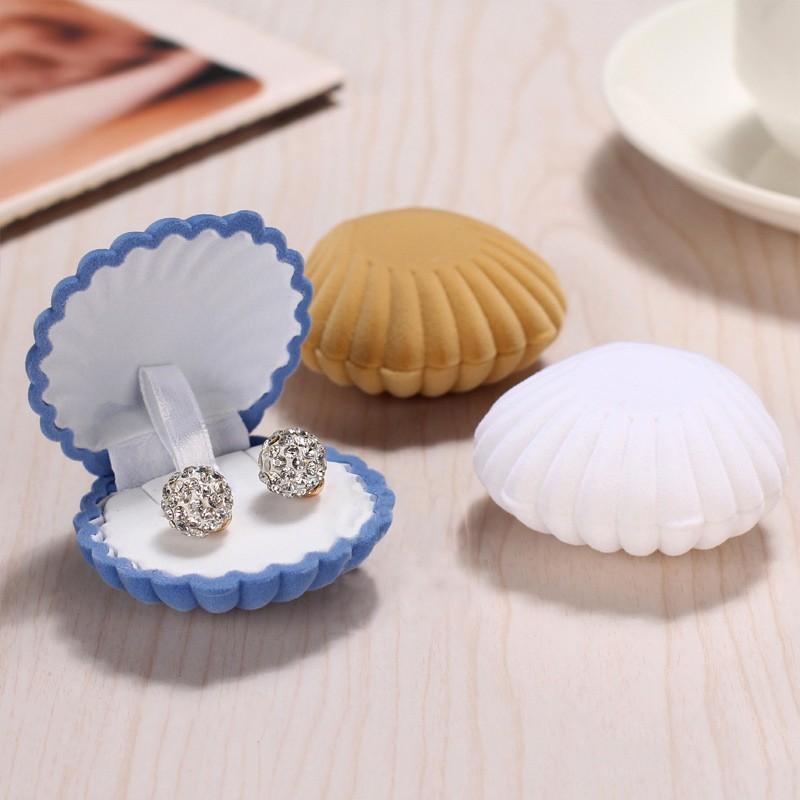 ジュエリーケース ギフトボックス リングケース プレゼントボックス ピアスケース ネックレス 指輪 シェル型 貝殻 贈り物 誕生日 クリスマス バレン mignonlindo