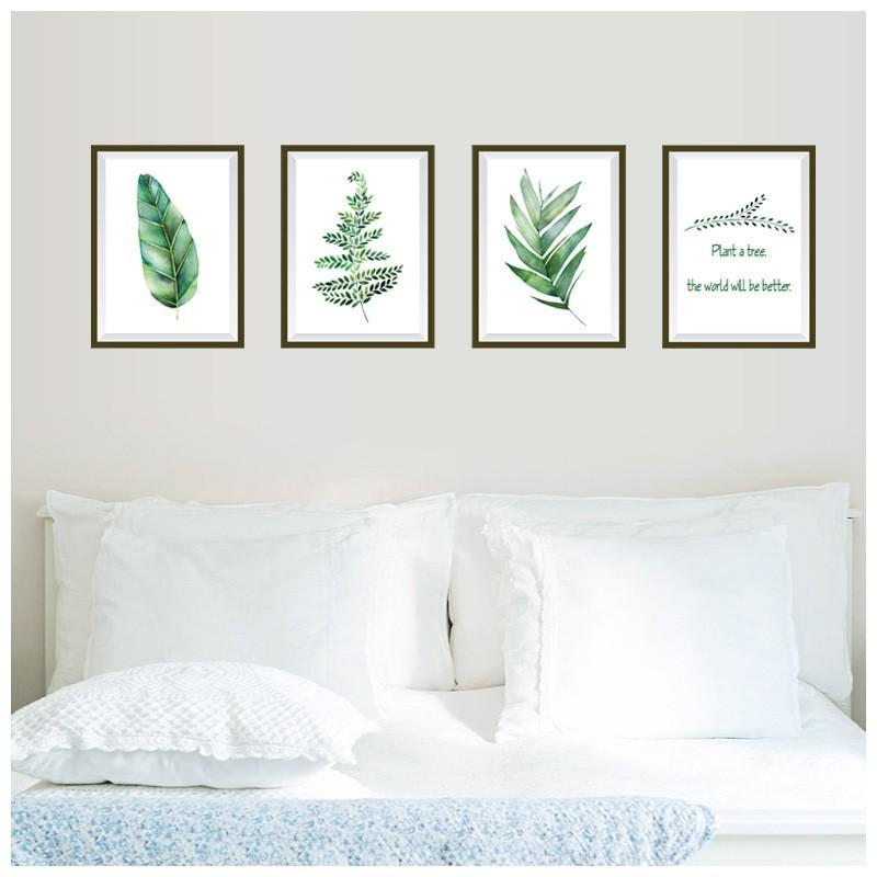 ウォールステッカー ウォールシール フォトフレーム風 写真 ポスター風 額縁 植物 葉っぱ 緑 市場 壁紙シール 迅速な対応で商品をお届け致します 壁面装飾 自然 壁シール 癒し 壁装飾 室
