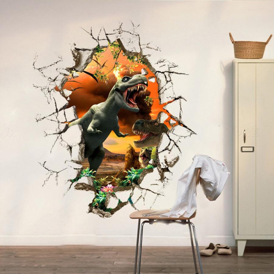 ウォールステッカー ウォールシール 壁紙 壁シール 3d 立体 トリックアート だまし絵 恐竜 子供部屋 男の子 壁デコ 壁面装飾 ルームデコレーショ Zak 5 おとりよせ Com 通販 Yahoo ショッピング