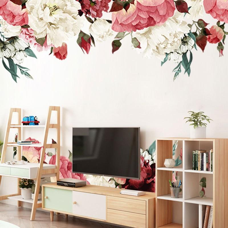 ウォールステッカー ウォールシール シール式 花 フラワー バラ 植物 癒し お歳暮 壁シール 壁面装飾 室内装飾 壁装飾 自然 ファッション通販 インテリア 壁紙シール