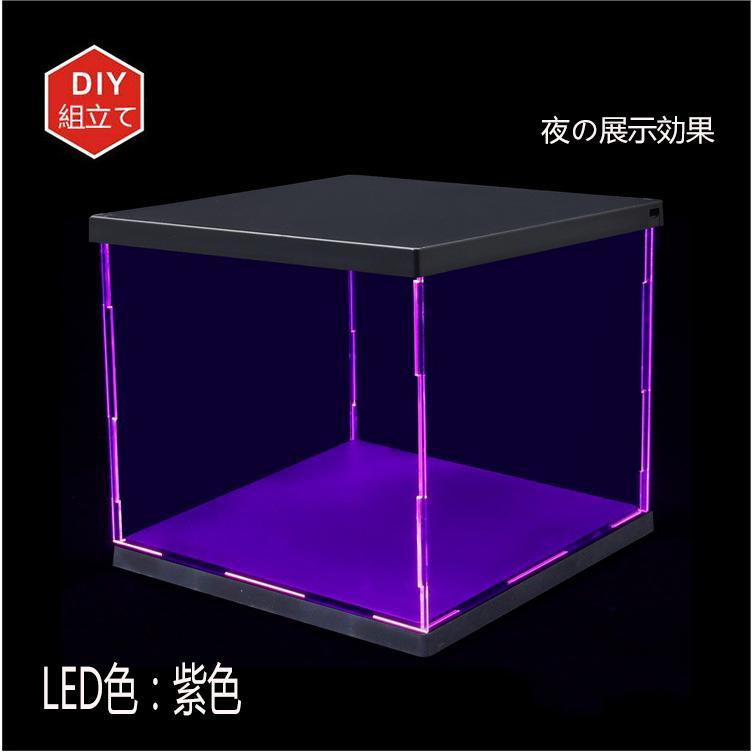LED照明展示ケース 高透 透明アクリル フィギュアケース アクリルケース コレクションケース LED付き|miistore|02