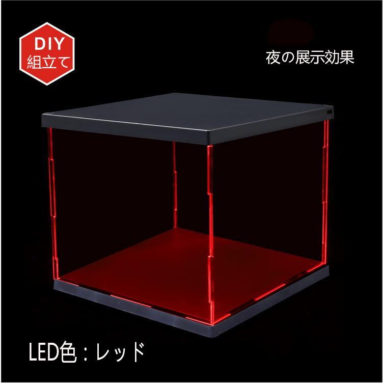 LED照明展示ケース 高透 透明アクリル フィギュアケース アクリルケース コレクションケース LED付き|miistore|03