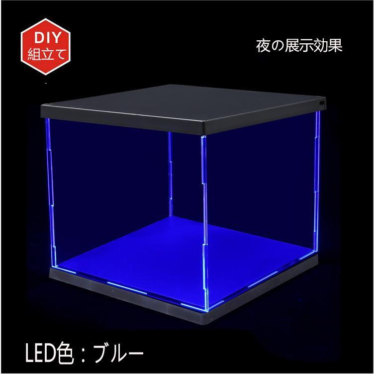 LED照明展示ケース 高透 透明アクリル フィギュアケース アクリルケース コレクションケース LED付き|miistore|05