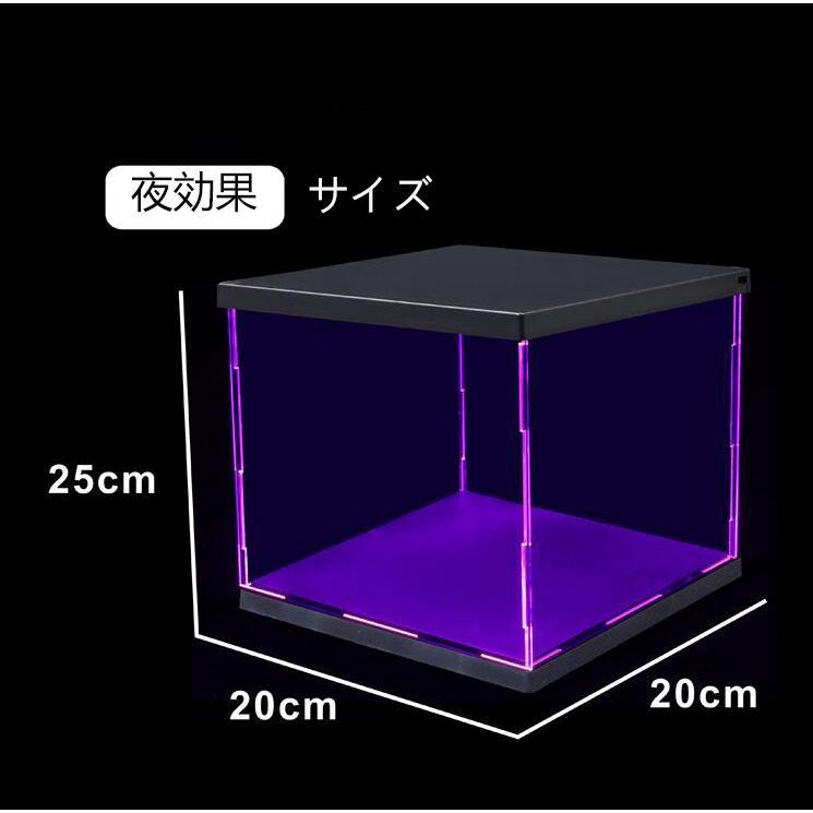 LED照明展示ケース 高透 透明アクリル フィギュアケース アクリルケース コレクションケース LED付き|miistore|06
