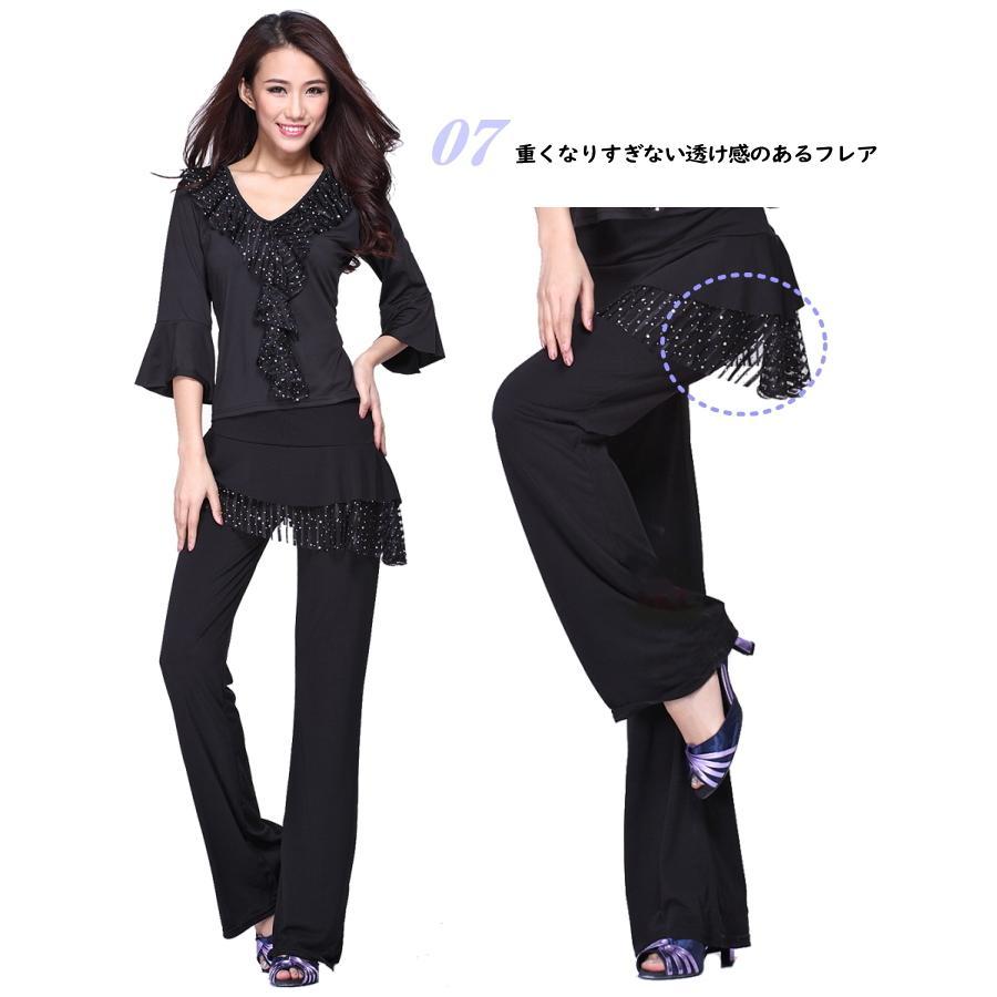 2枚で送料無料 スカート付き パンツ レギンス 伸縮性抜群美脚ライン パンツ 社交ダンス リズムダンス ダンス衣装 ミカドレス cy155-2 mika 04