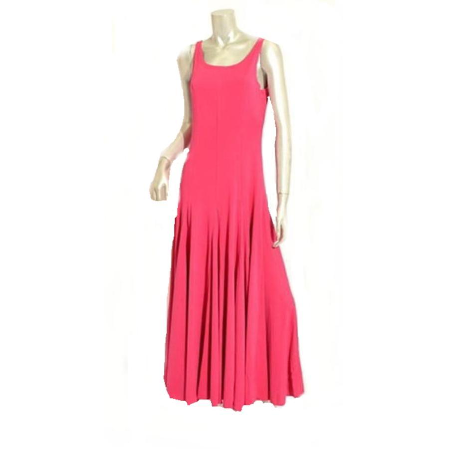 フラメンコ衣装 ワンピース 紫 パープル ピンク セール フラメンコドレス ダンス衣装 シンプル マチ付で広がります カラバリ ミカドレス p17-紫の/cherryピンク