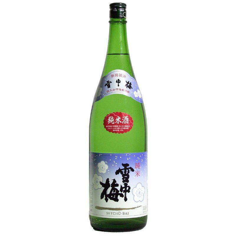 雪中梅 純米酒 1800ml mikami-saketen