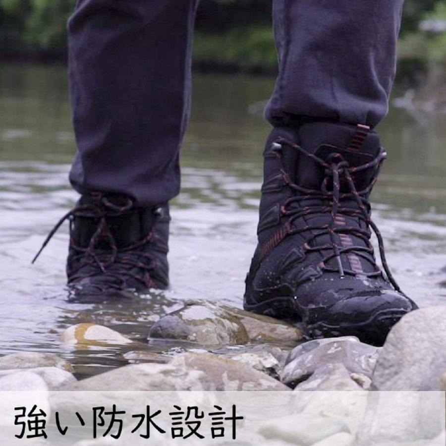 (シャングアン) XIANG GUAN トレッキングシューズ スノーブーツ 完全防水 メンズ/レディース ムートンブーツ 雪靴防寒 裏起毛