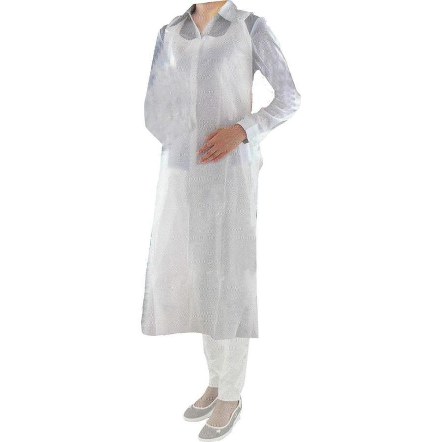 フジ ポリエプロンロング袖なし(ホワイト) 入数:50枚×20箱