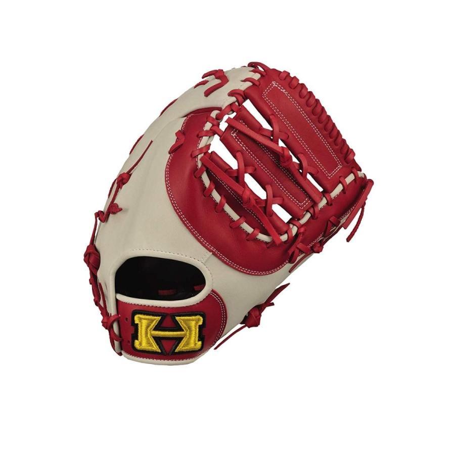 Hi-ゴールド(ハイゴールド) ソフトボール 一塁手用 兼 捕手用ミット ベーシックシリーズ BSG-85F レッド×ホワイト LH(右投用
