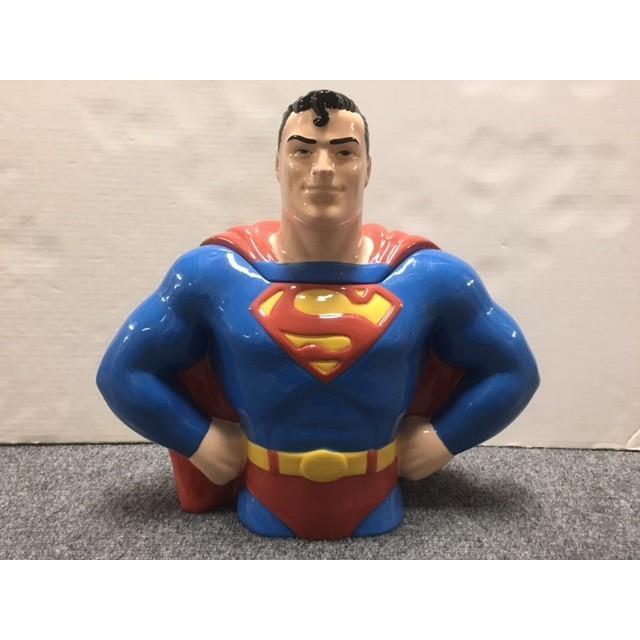 ◎【 スーパーマン】クッキージャー 陶器製【スーパーマン・バストアップ】