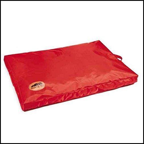 """【新品】Slumber Pet Red Heavy Duty Dog Bed Chew Resistant Indoor Outdoor Tough Soft Nylon Teflon (Medium - 36"""" L x 23"""" W 3"""" H)"""
